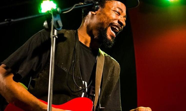 Uganda-based Jamaican artist Anthony Jermaine performing at Bayimba 2016. Photo: Skizar