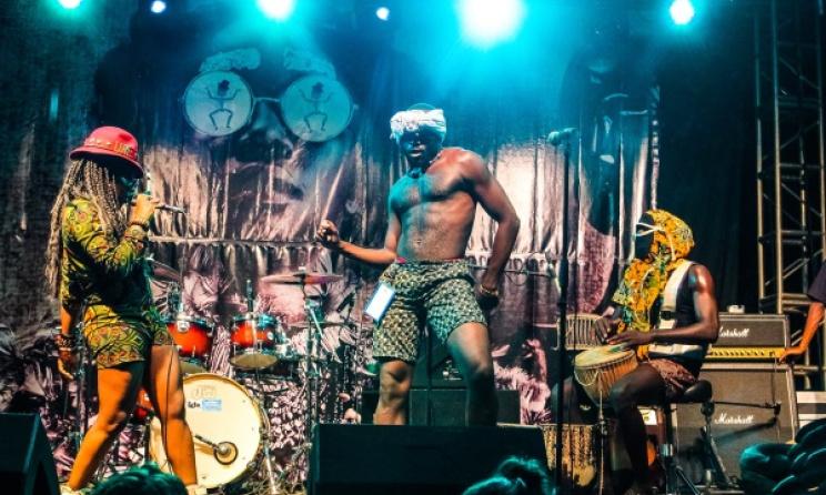A performance at Nyege Nyege Festival. Photo: Gilbert Frank Daniels