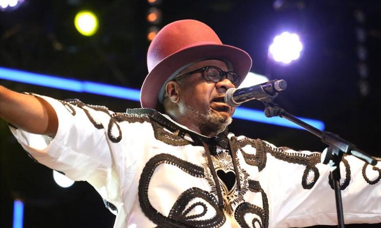 Papa Wemba lors de son concert au Femua (avril 2016). Photo: DR