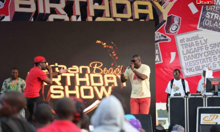 The Baponga rap singers and Kapital K.  Photo: Urban FM