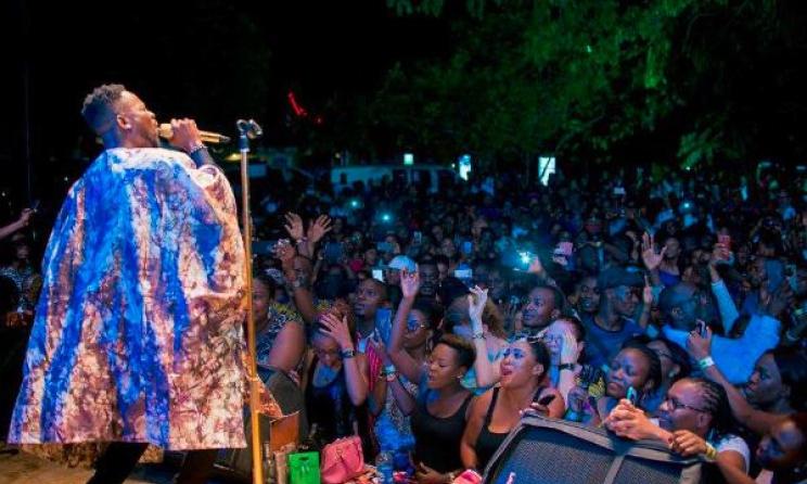 Adekunle Gold performing at Afropolitan Vibes.  Photo: AV