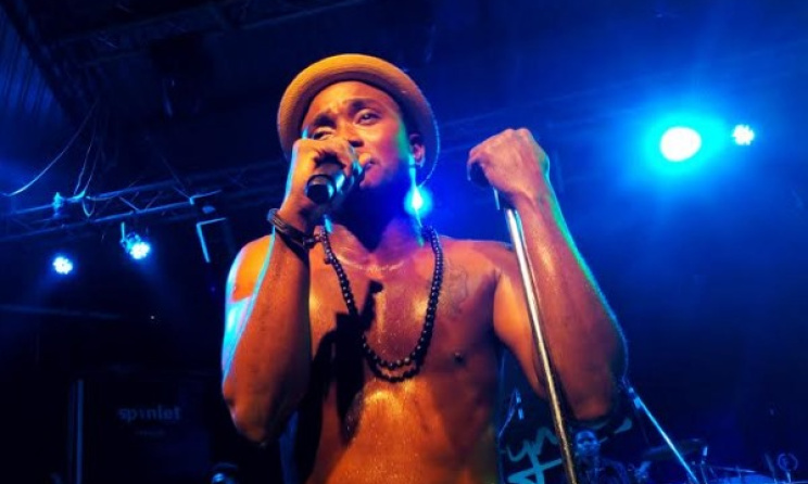 Brymo performing at Organised Chaos.  Photo: Victor Adewale
