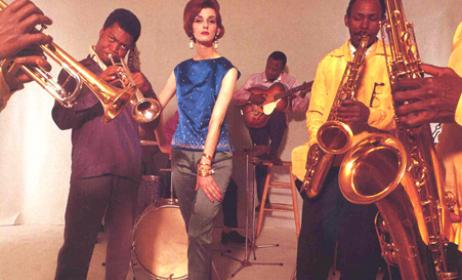 Fela Kuti and his Jazz Band. Vogue photo shoot, 1961.