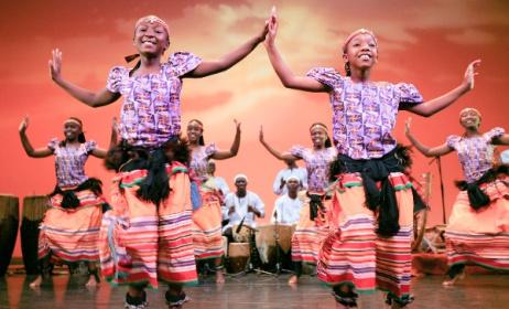 Ugandan traditional dancers. Photo: www.zeiterion.org