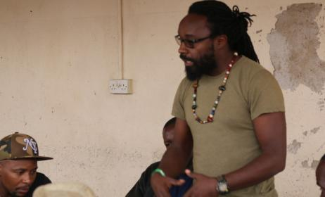 Gregg Tendwa addressing the workshop