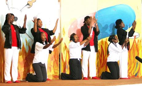 Nairobi University on stage at last year's festival. Photo: westfm.co.ke