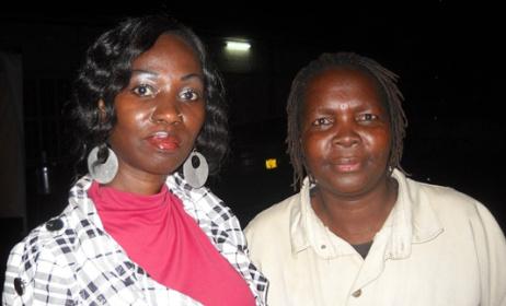 Musicians Sali Oyugi and Olith Ratego