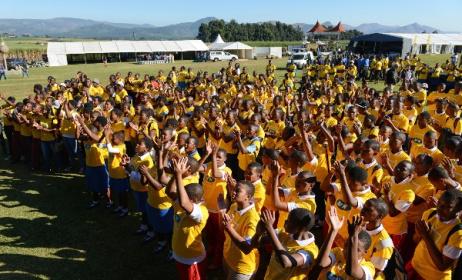 Last year's Bushfire Schools Festival. Photo: Bram Lammers.