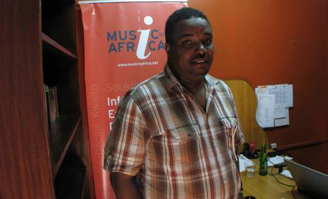 Titi Solomon at the Nairobi Music in Africa office