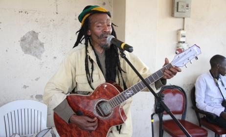 Ali 'Rastaman' Magobeni performing at The GoDown Arts Centre, Nairobi. Photo: Ketebul Music