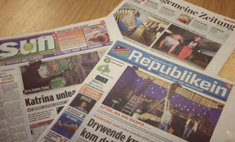 Some Namibian newspapers. Photo: namibiatourismexpo.wordpress.com