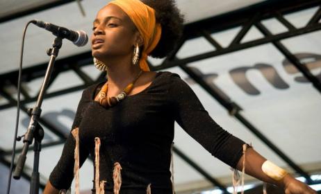 Oupta, chanteuse du Congo Brazzaville .(ph) Facebook