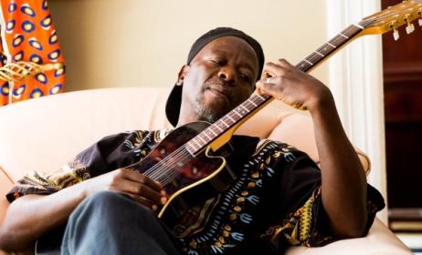 Malawian jazz musician Wambali Mkandawire, aka Mte Wambali,