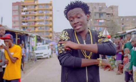 A scene from Bahati's video for 'Kuchu Kuchu'.