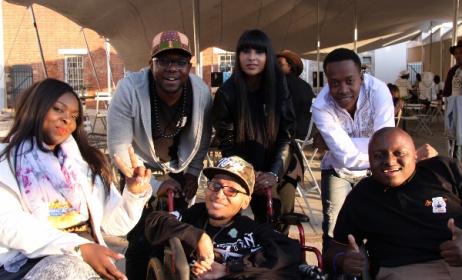Casual Day ambassadors Thuli Matlala, Zubz, Lezanne Naidoo, Patrick Mashegwana, (front) 2J Harmonix and Khumo Moyane.