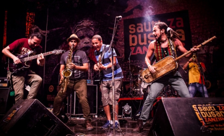 Djmawi Africa (Algeria) perform at Sauti za Busara 2015. Photo: Robin Batista