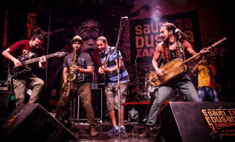 Djmawi Africa (Algeria) perform at Sauti za Busara 2015. Photo: Robin Batista