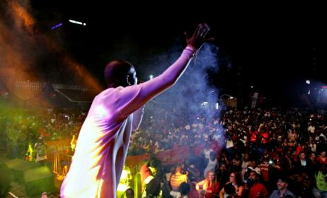 Eddy Kenzo at his Mbilo Mbilo Concert. Photo: www.chimreports.com