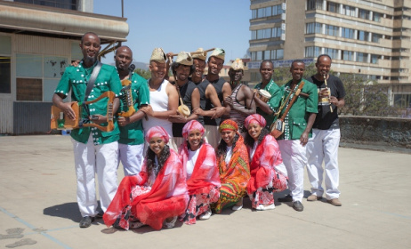 Members of Ethiocolor Band. Photo:www.africaspeaks4africa.org