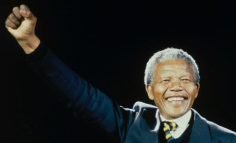 Nelson Mandela at the International Tribute to a Free SA in 1990. Photo: www.onehumanityfilm.com