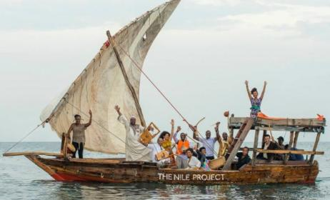 The Nile Project collective in Jinja, Uganda. Photo: Peter Stanley