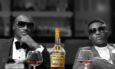 2face and Wizkid. Photo: Hennessy