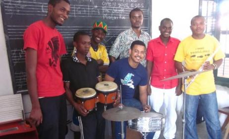 Students at the Dhow Countries Music Academy (DCMA) in Zanzibar. Photo: DCMA/Facebook