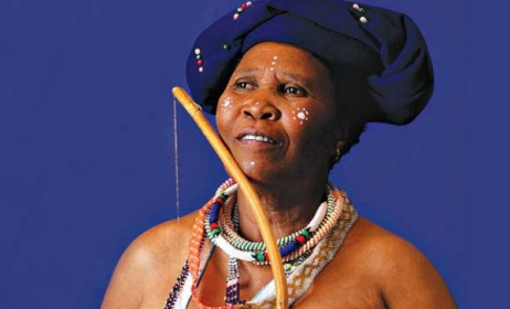 South African traditional artist Madosini. Photo: muafa1234.tumblr.com
