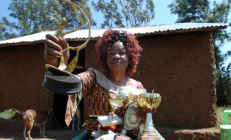 Princess Jully with some of her awards. Photo: www.sde.co.ke