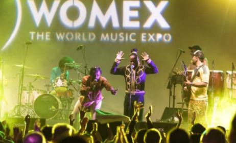 Colombian band Tribu Baharu at WOMEX 2014. Photo: worldmusiccentral.org