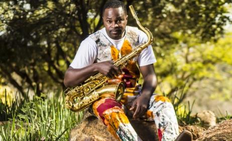 South African-based Nigerian saxophonist Femi Koya.