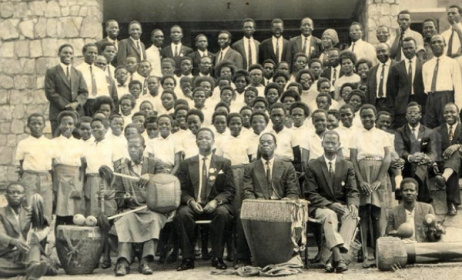 Joseph Kyagambiddwa's choir that sang in Rome. Photo: www.newvision.co.ug