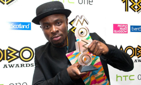 Fuse ODG, with the 2015 MOBO trophy. Photo: MOBO Awards