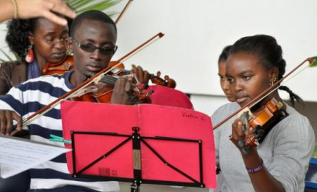 Students at the Art of Music Foundation. Photo: www.artofmusic.co.ke