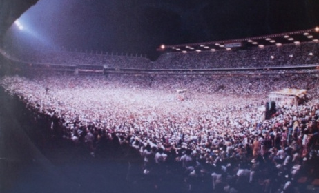 A photo of the historic Ellis Park concert in 1985.