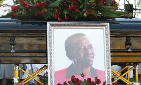 A scene from the funeral of South African singer David Masondo. Photo: icebolethugroup.co.za