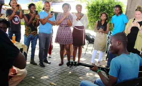 A scene from the recent workshop hosted by MCA Mozambique. Photo: www.music-crossroads.net