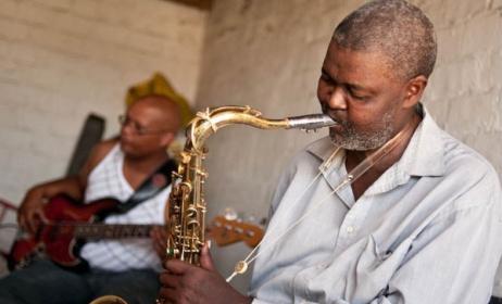 Ezra Ngcukana et Wesley Rustin au Cap, Afrique du Sud. Ph: John Edwin Mason