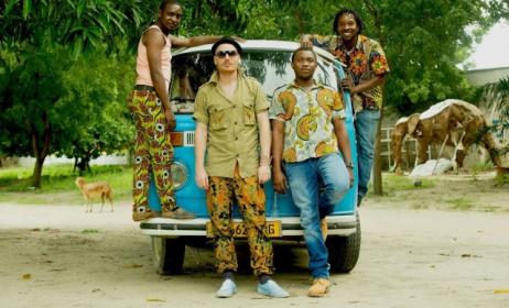 Mzungu Kichaa and some members of his band. Photo courtesy of Mzungu Kichaa