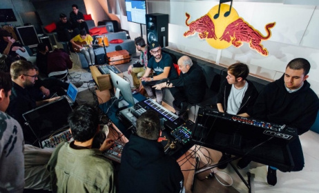 A jam session at the 2015 Red Bull Music Academy in Paris. Photo: Dan Wilton/Red Bull