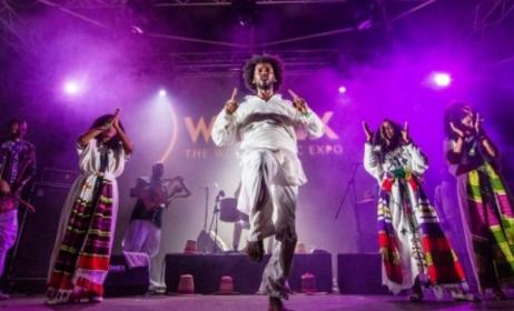 Ethiopian band Ethiocolor performing at WOMEX in 2014. Photo Yannis Psathas/www.womex.com