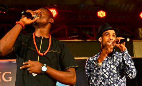 Mide and Ade Bantu, lead singers of the Bantu band
