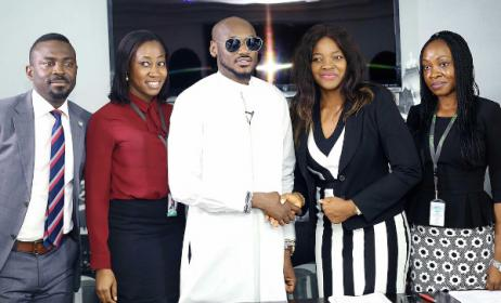 2baba, centre, at NYPF signing ceremony in Lagos. Photo: BellaNaija