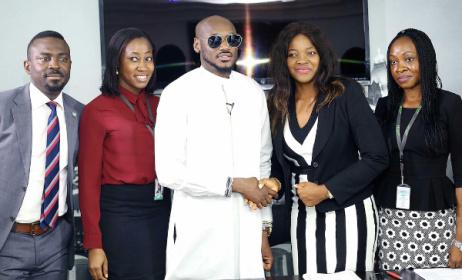 2baba, centre, at NYPF signing ceremony in Lagos. Photo: BellaNaija
