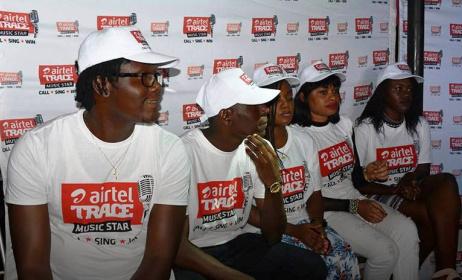 Les cinq candidats du Gabon d'Airtel Trace Music Star. Photo: Facebook Airtel Gabon.