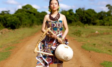 Eriko Mukoyama (aka Anyango) has signed with Ketebul Music in Kenya. Photo: Facebook