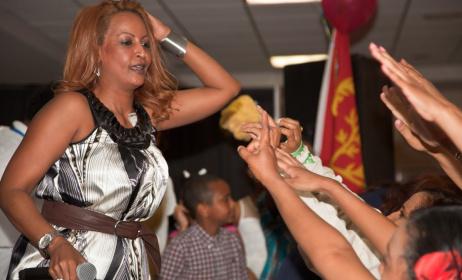 Eritrean artist Helen Meles. Photo: www.Youtube.com