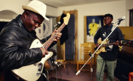 Zambian guitarists Jagari Chanda and Rikki Ililonga are still going strong. Photo: worldtreasuresmusic.com