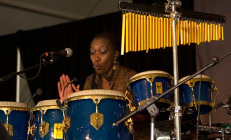 Kenyan drummer Kasiva Mutua. Photo: www.festival.si.edu