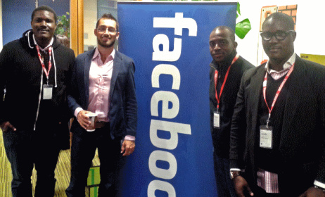Founders of MyMusic with Facebook staff